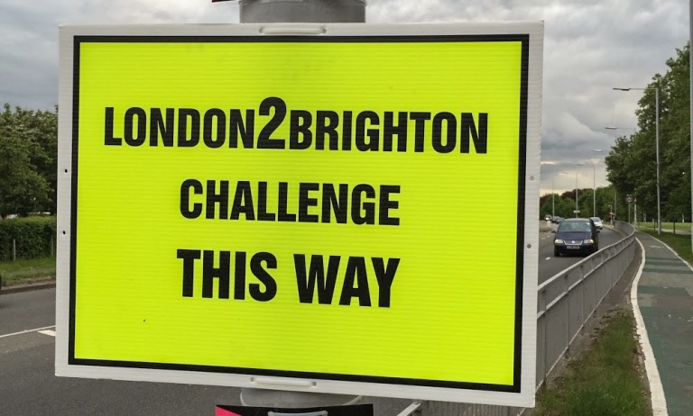 London2Brighton Sign
