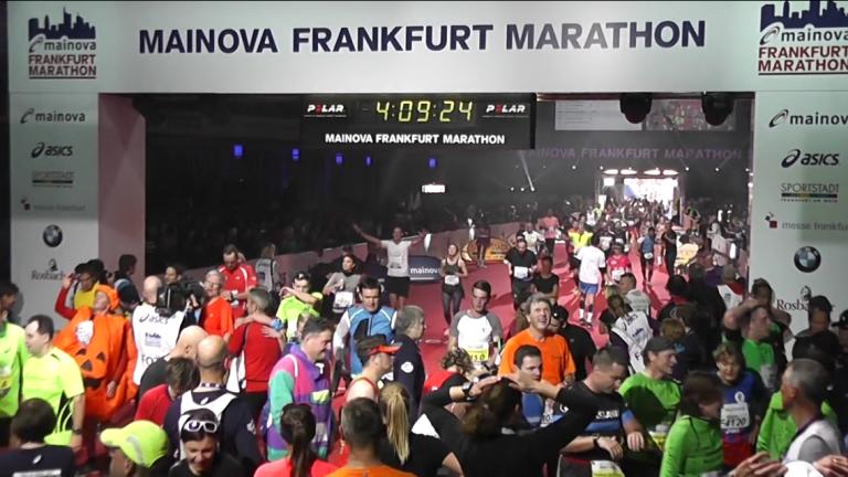 Frankfurt Marathon 2016 finish line