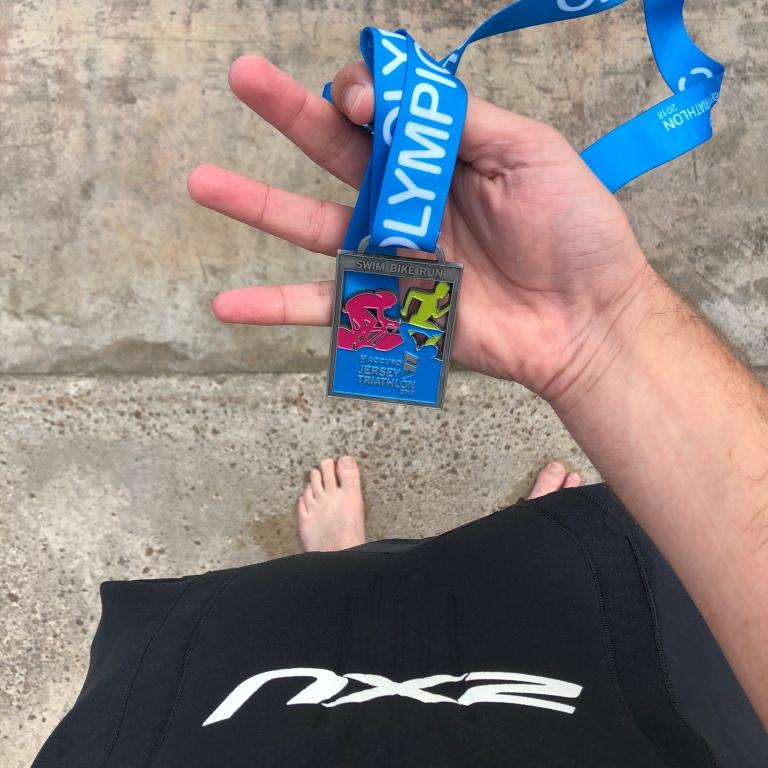 Jersey Triathlon 2018 medal