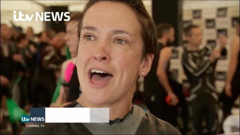 ITV news Jersey Triathlon